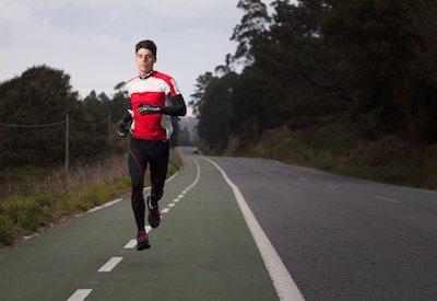 Runner man portrait